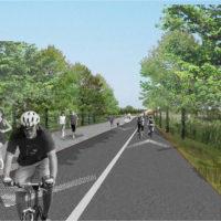 Rendering: Paths for walking, jogging, and biking