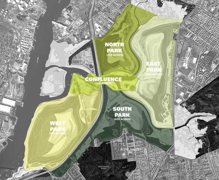 Draft Master Plan describes Freshkills Park as Five Parks in One
