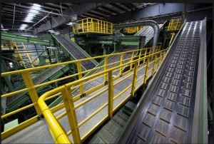 The new Sims Recycling Facility in Brooklyn (Image from NY Times)