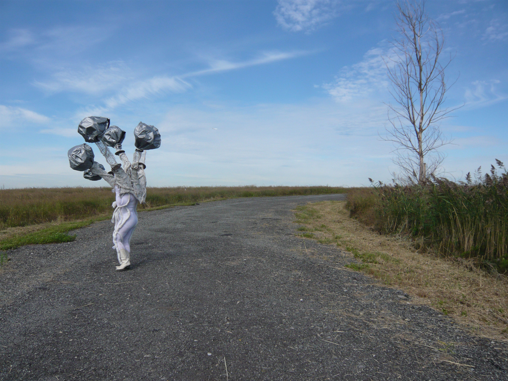 "DB Lampman's ""I Am Within/I Am Without"" at Freshkills Park."