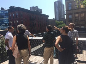 The Freshkills Park development team on a tour of the Highline