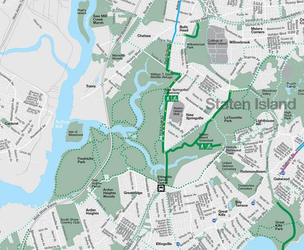 New Springville Greenway 2016 bike map full