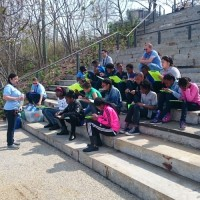 The Sustainable Landscape program welcomed students to Brooklyn Bridge Park's Pier 1 where they conceptually and physically learned about the practice of reducing, reusing, and recycling.