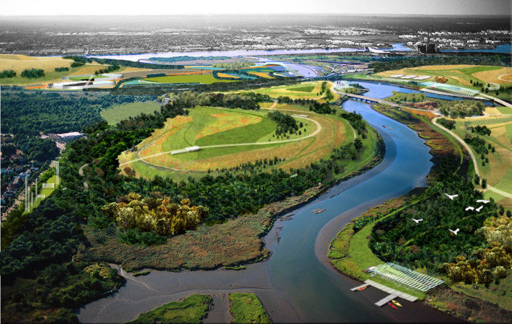 Freshkills Park Rendering, James Corner Field Operations