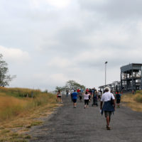 Hiking the hills of the former Fresh Kills Landfill.