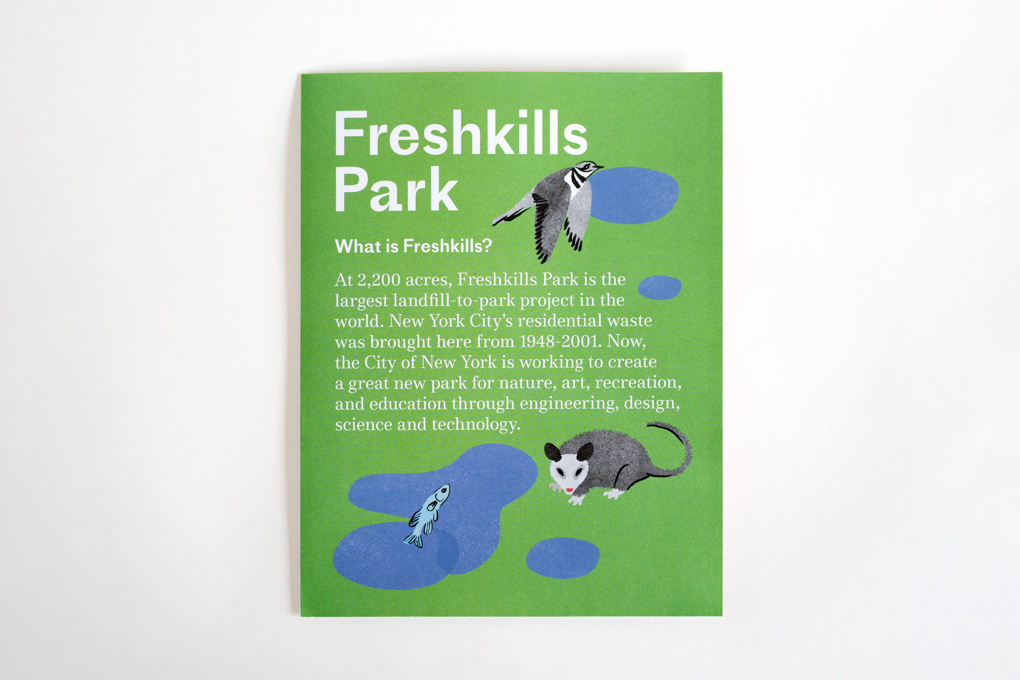 Poster design nature - Freshkills Park Teamed Up With The Design Studio Partner Partners To Create What Is Freshkills A Fold Out Poster Pamphlet That Illustrates The History