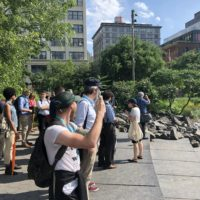 Guided field trip to Brooklyn Bridge Park led by Isa Del Bello.
