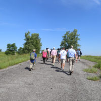 Guided field trip to Freshkills Park, led by Cait Field and Eloise Hirsh. (Photo: Andy Wanning)