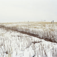 © 2019 Jade Doskow, North Mound, Winter, Topographical Ridge with Methane Wells