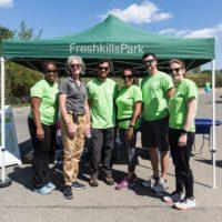 Freshkills Park Manager for Park Development Laura Truettner with volunteers (Photo: Jo Cavallo)